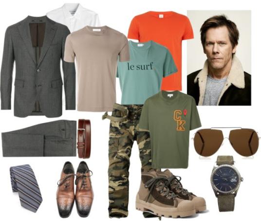 """Färg/Stilinspiration NY LOOK. """"Modell"""" Kevin Bacon."""
