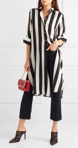 Svart-vitt med röd accent från Dolce & Gabbana.