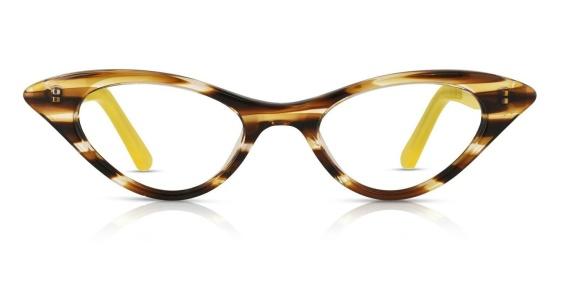 ...liksom små glasögonbågar i kattmodell som gärna ska sitta lite ner på näsan. (Båge från Vint & York)