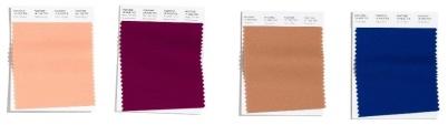 Peach Nougat - Magenta Purple - Tawny Birch - Classic Blue(Årets Färg 2020)