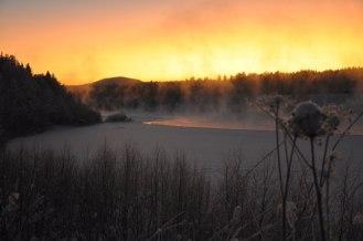 Vinter vid Luleälven, Boden.