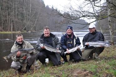 Fyra fina fiskar och fyra fina flin!