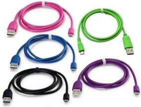 MICRO-USB DATA/LADD KABEL - MICRO-USB DATA/LADD KABEL -BLÅ