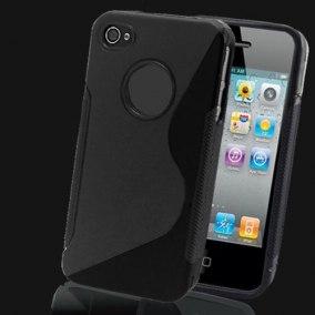 SKAL TILL IPHONE 4,4s + SKYDDSFILM - SKAL + SKYDD TILL IPHONE 4 -SVART