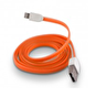 FÄRGAD PLATT USB KABEL TILL IPHONE 5 & 6 - PLATT USB TILL IPHONE 5 - ORANGE