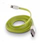 FÄRGAD PLATT USB KABEL TILL IPHONE 5 & 6 - PLATT USB TILL IPHONE 5 -GRÖN