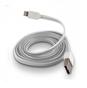 FÄRGAD PLATT USB KABEL TILL IPHONE 5 & 6 - PLATT USB TILL IPHONE 5 - VIT