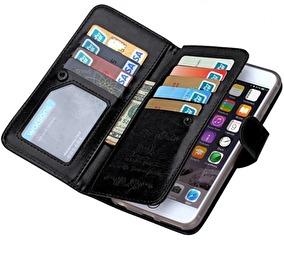 IPHONE 6/6S MAGNETISKT PLÅNBOKSFODRAL MED 7 KORTFACK - iPhone 6/6S MAGNETISKT PLÅNBOKSFODRAL MED 7 KORTFACK