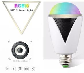 SMART LED-LAMPA MED HÖGTALARE - SMART LED-LAMPA MED HÖGTALARE