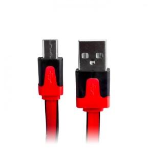 PLATT MICRO-USB KABEL - PLATT MICRO-USB KABEL -RÖD