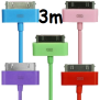 3M USB-KABEL TILL IPHONE 4, 4s -FÄRGAD