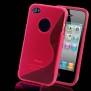 SKAL TILL IPHONE 4,4s + SKYDDSFILM - SKAL + SKYDD TILL IPHONE 4 -ROSA