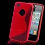 SKAL TILL IPHONE 4,4s + SKYDDSFILM - SKAL + SKYDD TILL IPHONE 4 -RÖD