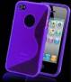 SKAL TILL IPHONE 4,4s + SKYDDSFILM - SKAL + SKYDD TILL IPHONE 4 -LILA