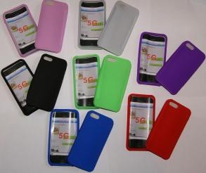 SILIKONSKAL TILL IPHONE 5  - SILIKONSKAL TILL IPHONE 5 -SVART
