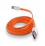 FÄRGAD PLATT USB KABEL TILL IPHONE 5 & 6 - PLATT USB TILL IPHONE 5 - ORANGE