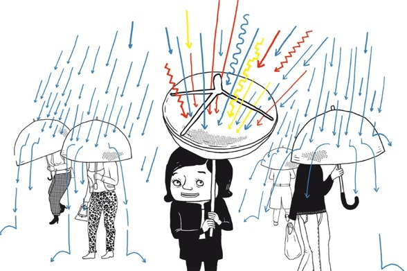Illustration från Svenska Dagbladet artikelserie om högkänslighet