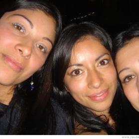 Jag och två av mina kusiner Olga och Lina.