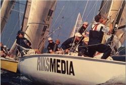 Foto: Oskar Kihlborg. Jag på fördäck, strax efter simmandes i havet.