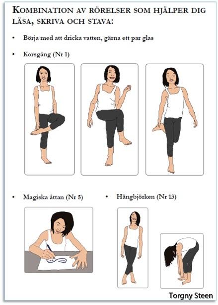 18 smarta rörelser - stärk din hjärna, må bra och nå dina mål: Exempel Rörelse