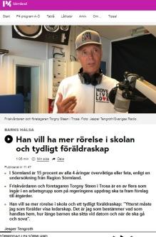 Torgny Steen hos SR P4 Sörmland