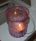 ljuslykta i rosa med hank