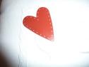 metallhjärta rött stort