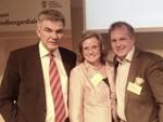 Peter Örn tillsammans med kommunalrådet Maria Fälth (KD) och kommunikationsstrategen Johannes Wikman