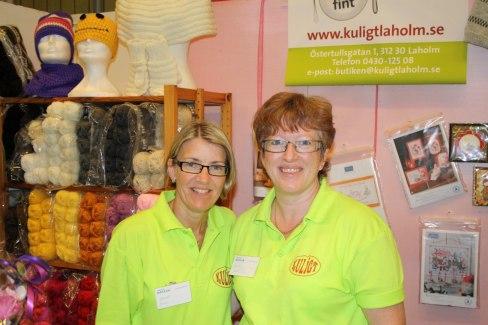 Marie och Ingela på Kuligt, Laholms hobbyaffär.