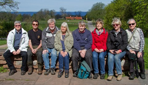 Från vänster Roger, Martti, Hasse, Dzintra, Alf, Lena, Solveig, och Lilliz