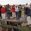 Vandringen gick i regi av Västkuststiftelsen med Evastina Blomgren och Eva Falk som guider.