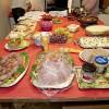 Klas och Birgit, Göran och Nanette samt Laila hade ordnat med det utsökta julbordet.