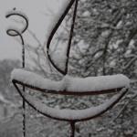 Växtstöd båt och spiral i snö