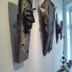 Masker o sköldar på utställning Halmstad Art & Design 2014