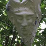 Mask i papier mache Tre hjärtebåtar 2013