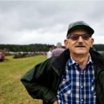 Gösta Milan kom bara för att titta på traktorer och träffa folk.