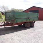 Spannmålsvagn boggi KMA 12 ton årsm 1979 tvåvägs tipp bromsar.