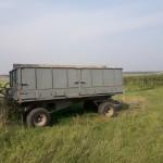 Spannmålsvagn två axlad Tierpverken ca 10 ton. Mekaniska bromsar