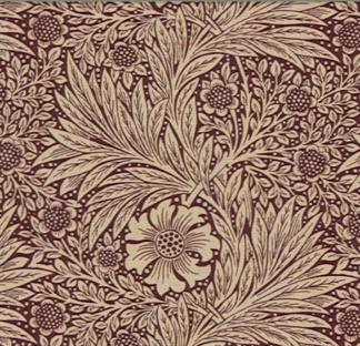 Tyg William Morris - Marigold - William Morris-Marigold röd