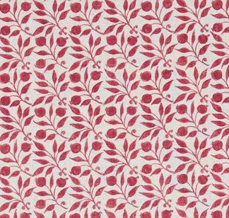 Tyg William Morris - Rosehip - William Morris Rosehip Röd