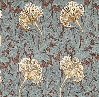 Tyg William Morris - Tulip - William Morris Tulip brun