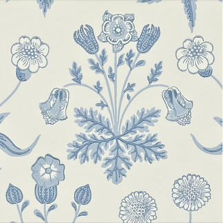 Tapet William Morris - Daisy  - William Morris Daisy Blå