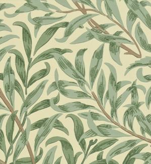 Tapet William Morris - Willow Boughs  - William Morris Willow Boughs Grön