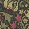 Tapet William Morris - Golden Lily - William Morris Golden Lily Mörkgrön