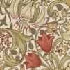 Tapet William Morris - Golden Lily - William Morris Golden Lily Rödgrön