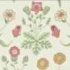 Tapet William Morris - Daisy  - William Morris Daisy Grönrödgul