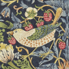Tapet William Morris - Strawberry Thief - William Morris Strawberry Thief Blå