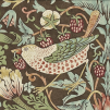 Tapet William Morris - Strawberry Thief - William Morris Strawberry Thief Brun