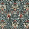 Tyg William Morris - Snakeshead - William Morris snakeshead Mörkgrön