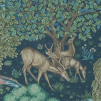 Tapet William Morris - The Brook - William Morris The Brook Mörkblå